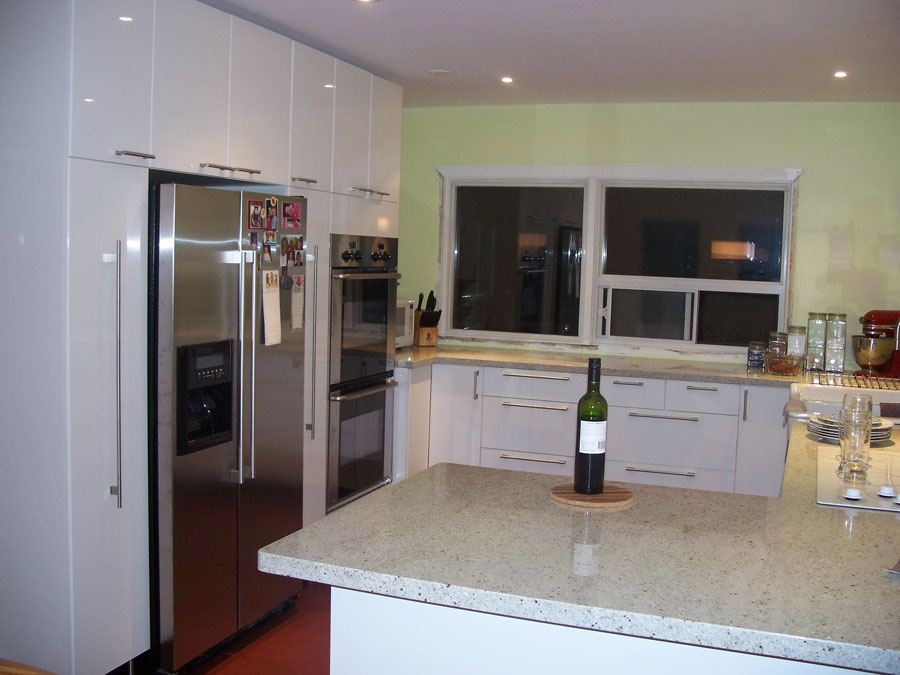 IKEA High Gloss White Kitchen Cabinets